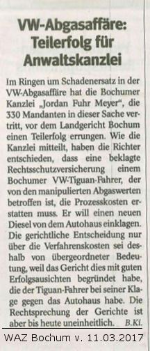 VW-Abgasskandal Anwalt